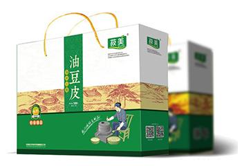 食品食材包装-油豆皮包装盒设计