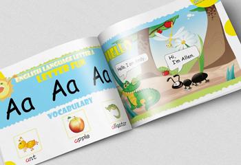 幼儿英语教材插画
