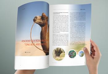 国外风景-英文杂志排版