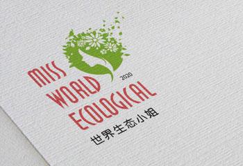 世界生态小姐LOGO设计
